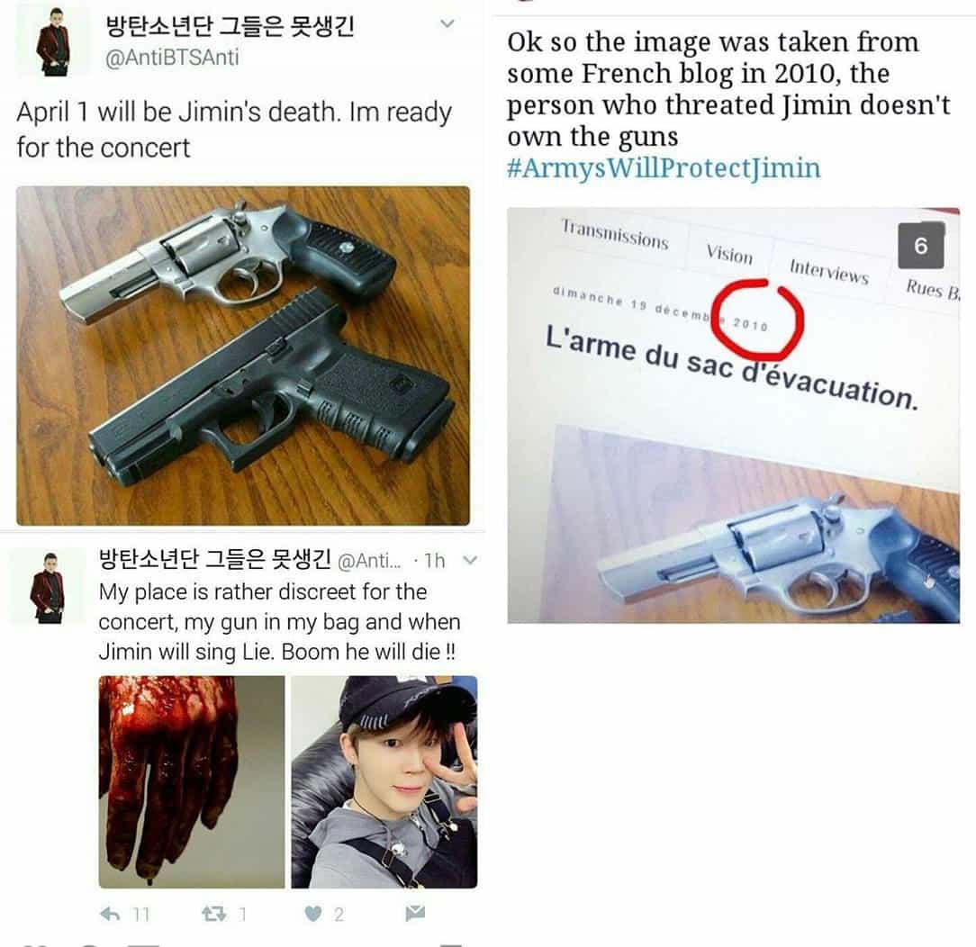 Death Threats Against BTS Jimin