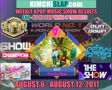 Kpop Music Show Results 6-08-12-08-17