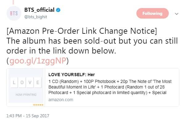 Buy BTS Love Yourself Her Album Online