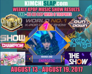 Kpop Music Show Results 13-08-19-08-17