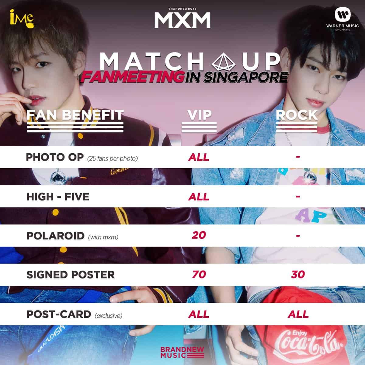 MXM Match Up Fan Meeting In Singapore