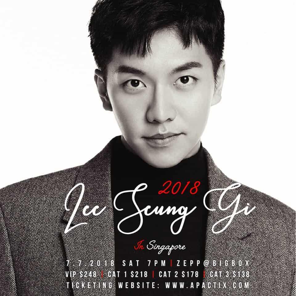 2018 LEE SEUNG GI IN SINGAPORE