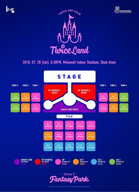 Twice 2ND World Tour TWICELAND Zone 2 Fantasy Park in Kuala Lumpur